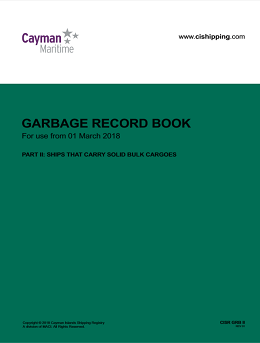 Cover of Garbage Record Book Part 2