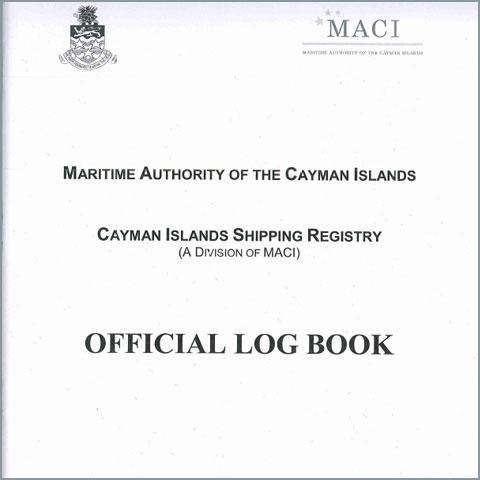 Cover of the Official Log Book