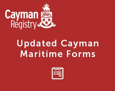 Updated Cayman Maritime Forms