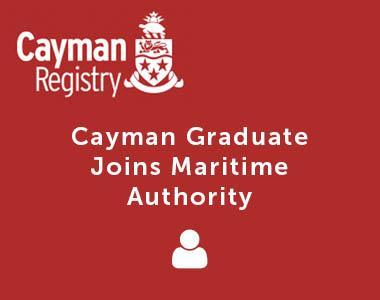 Cayman Graduate Joins Maritime Authority