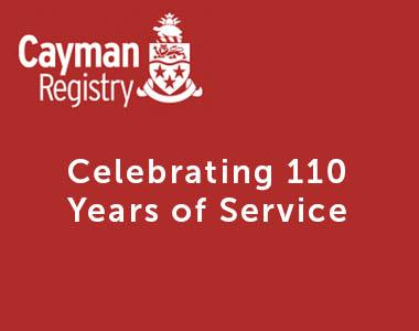 Cayman Registry- celebrating 110 years of service